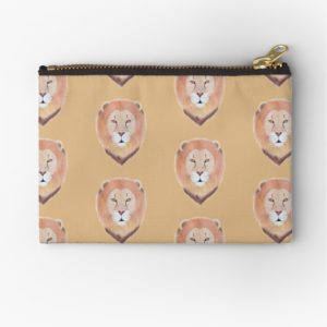 African Lion Pattern on Zipper Pouches